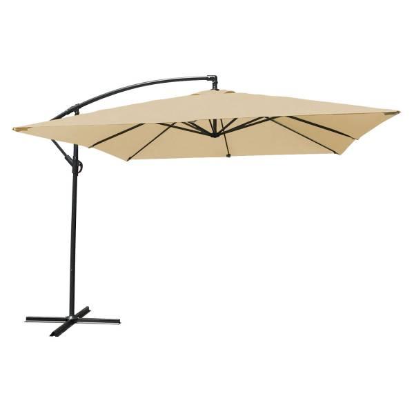 parasol d port inclinable carr 2 7x2 7m beige happy garden. Black Bedroom Furniture Sets. Home Design Ideas