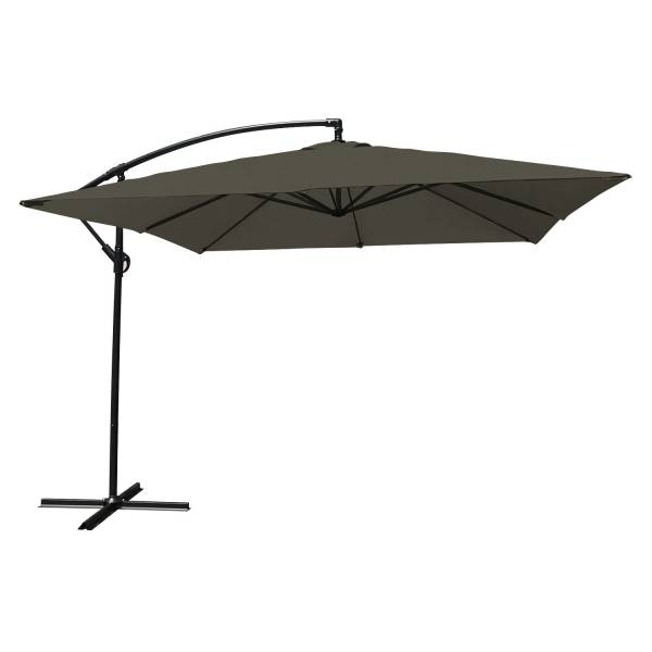 parasol d port inclinable carr 2 7x2 7 gris happy garden. Black Bedroom Furniture Sets. Home Design Ideas