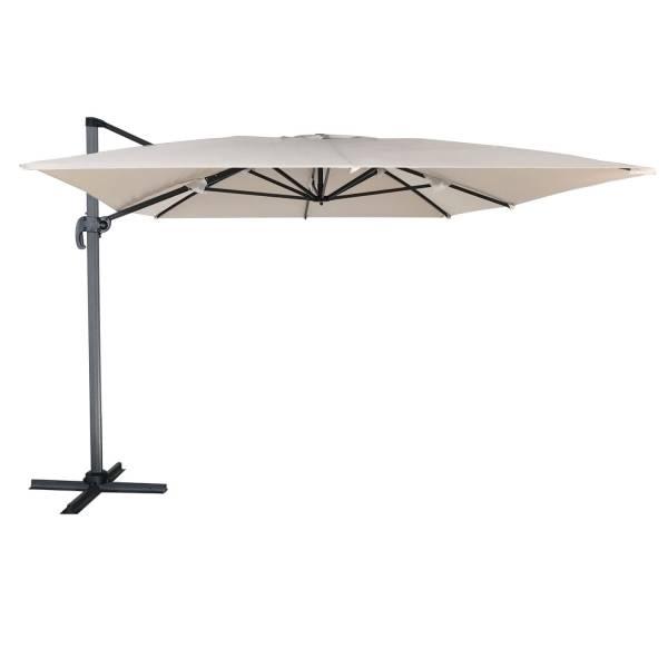 parasol d port inclinable rectangulaire 3x4m beige happy garden. Black Bedroom Furniture Sets. Home Design Ideas