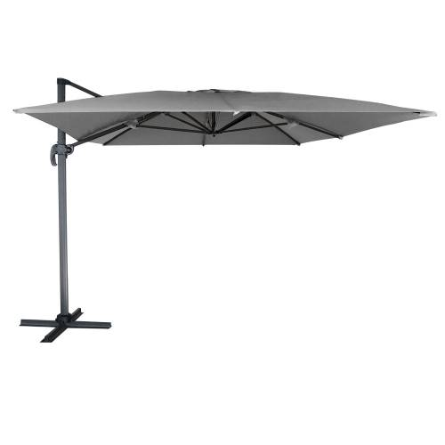 Parasol Deporte Inclinable Rectangulaire 3x4m Gris Happy Garden
