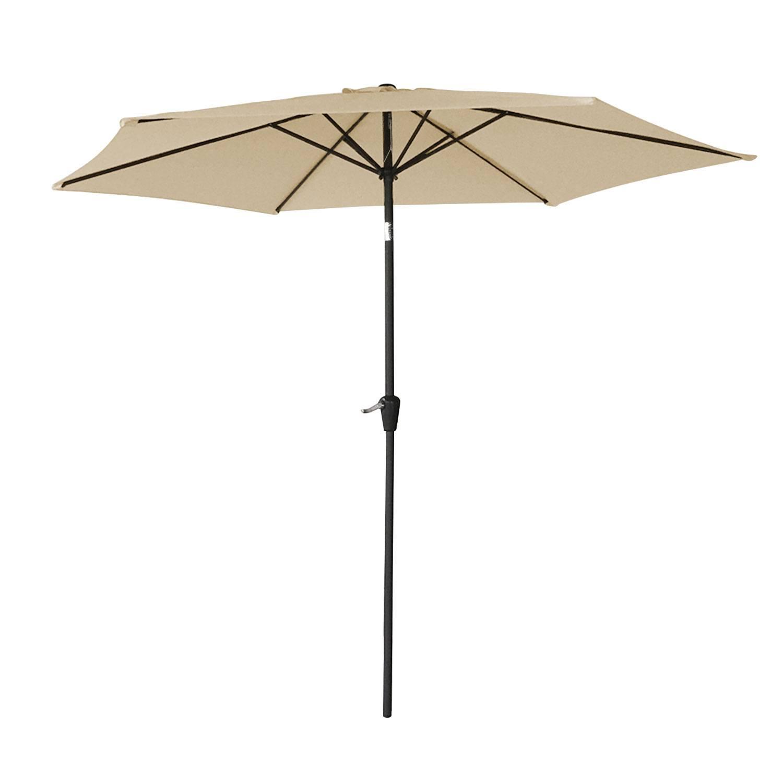 Parasol droit HAPUNA rond 2,70m de diamètre beige