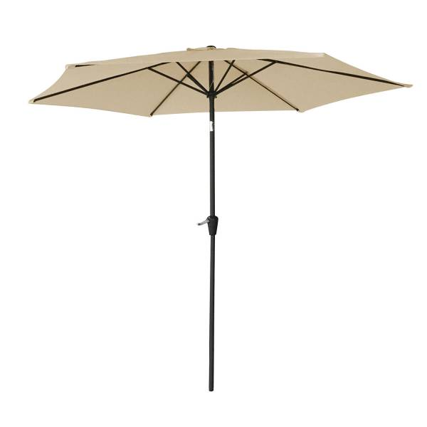 parasol droit inclinable rond 2 7m beige happy garden. Black Bedroom Furniture Sets. Home Design Ideas