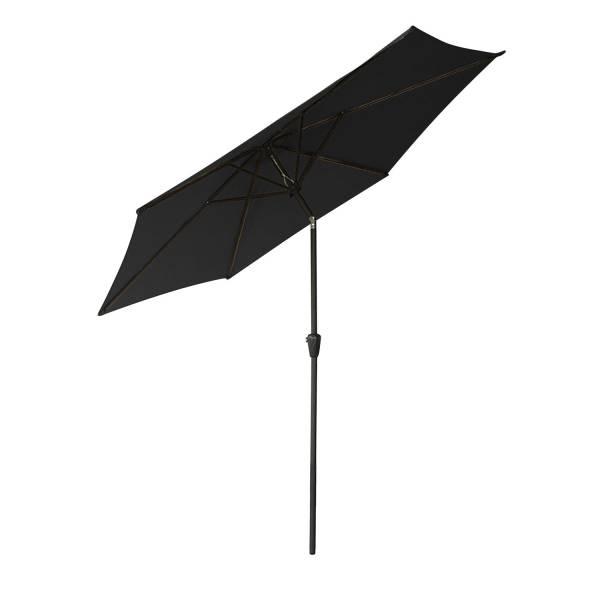 parasol droit inclinable rond 2 70m m t noir happy garden. Black Bedroom Furniture Sets. Home Design Ideas
