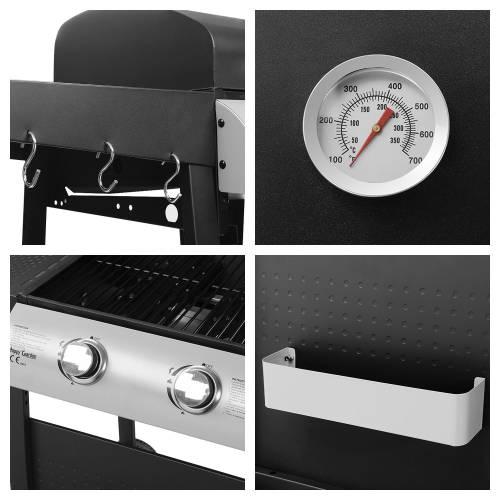 Barbecue au gaz NEVADA - 2 brûleurs avec thermomètre