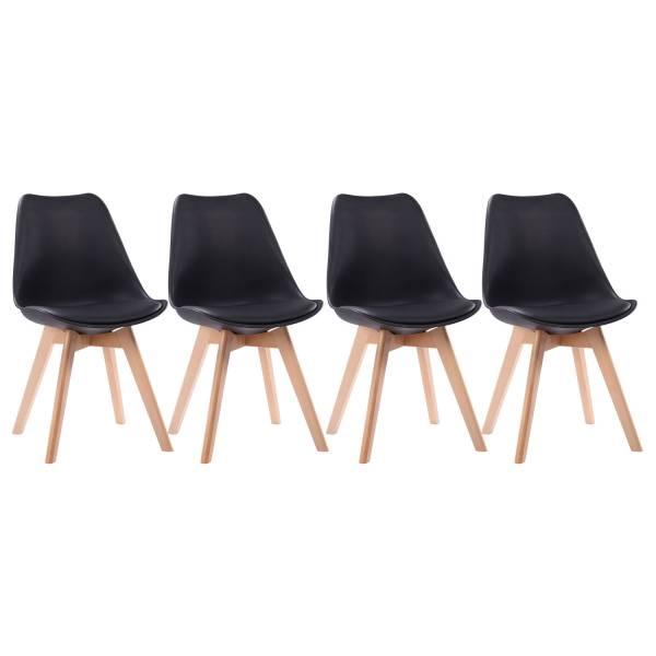 chaises scandinaves noires