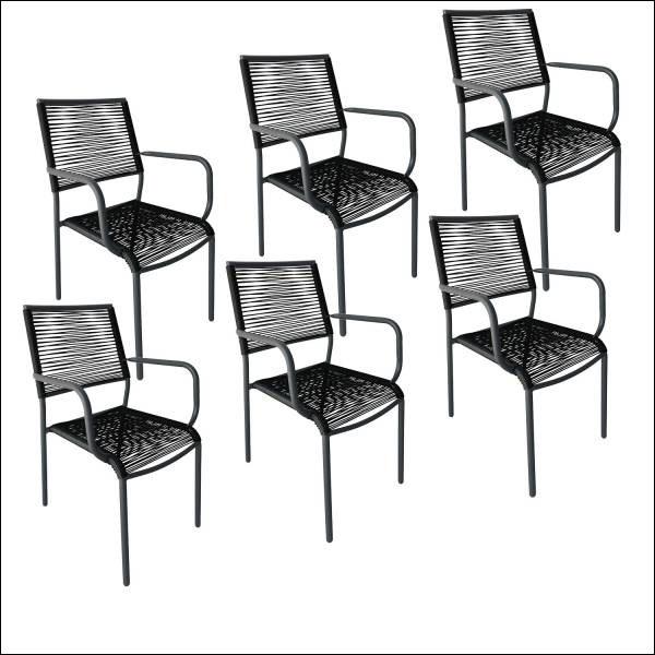 Lot de 6 chaises Acapulco