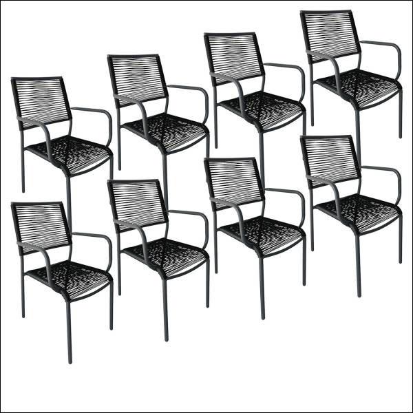 Lot de 8 chaises Acapulco