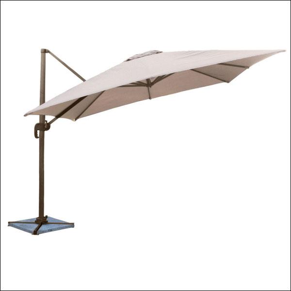 parasol déporté Molokai carré 3m