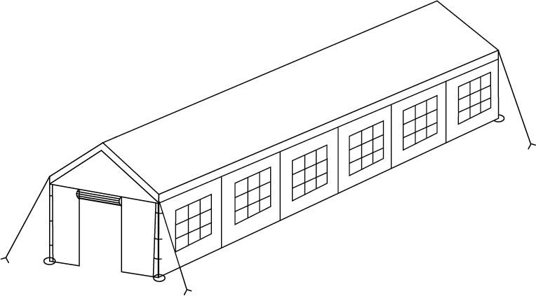 Installation tente 6x12m