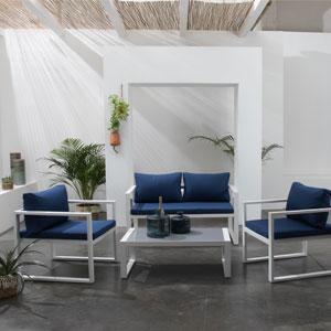 salon de jardin tissu 4 places